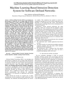 Machine learning based intrusion detection system for