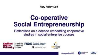 Cooperative social entrepreneurship: reflecting on a decade