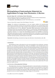 Electroplating of semiconductor Materials for Applications in Large