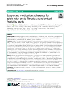 Supporting medication adherence for adults with cystic