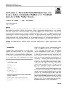 Development of a novel electrochemical inhibition sensor