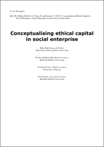 Conceptualising ethical capital in social enterprises