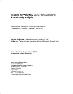 Funding for voluntary sector infrastructure: a case study