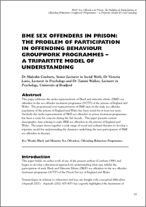 Term paper on sex offenders in prison