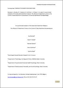 attachment psychopathology thesis Adult