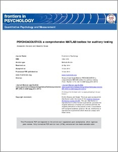 PSYCHOACOUSTICS: a comprehensive MATLAB toolbox for auditory