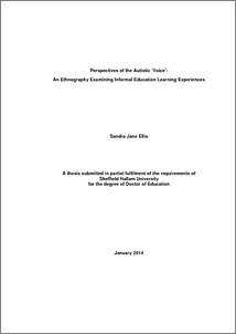Doctoral thesis ethnography